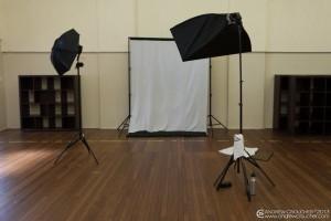photography portrait setup