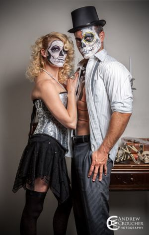 Day of the dead photos - Tanya Hinchcliffe and Darren Johns - Andrew Croucher Photography