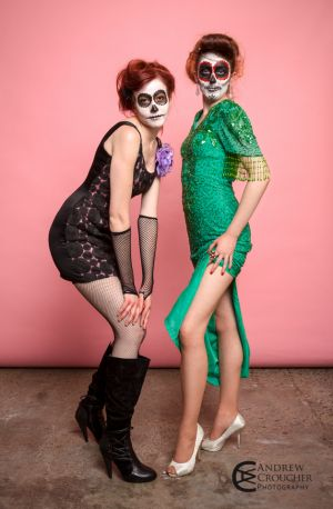 Day of the dead - Dia de Muertos - Mystique Rose and Nadine Groat - Andrew Croucher Photography 1.jpg